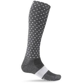 Giro Hightower Socks Unisex Merino Wool charcoal/white dots